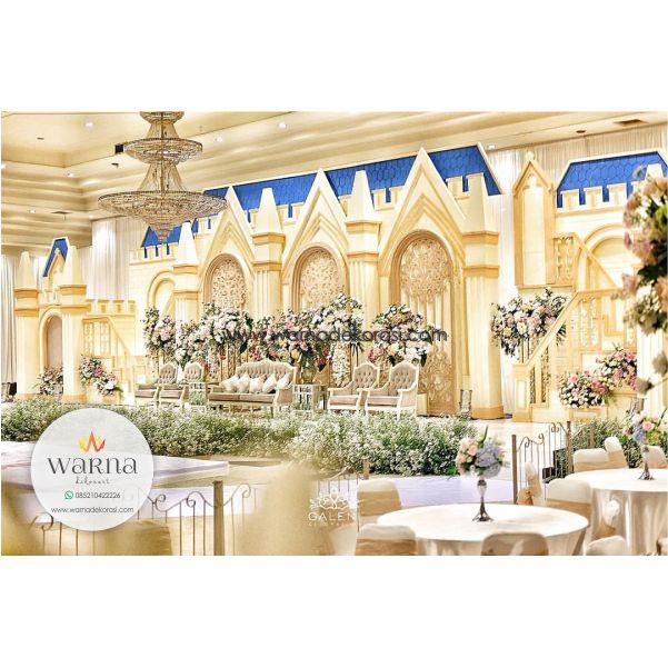 Dekorasi Pernikahan Model Istana Mewah, Dekorasi Pelaminan Kaca Istana Minimalis